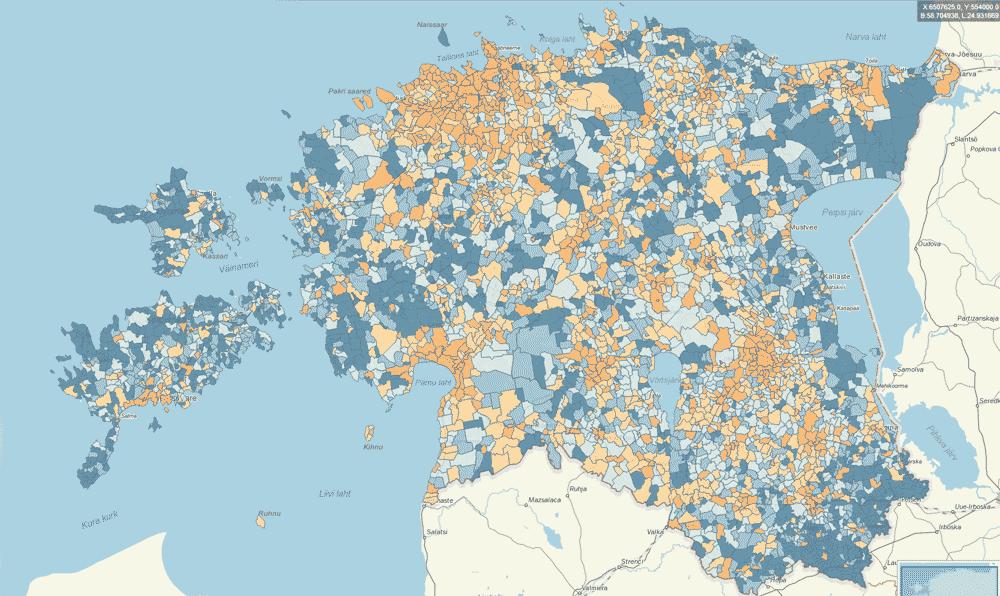 Statististics Estonia Map Application